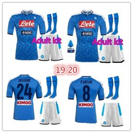 Wholesale Adult suit napoli soccer jersey home Naples ZIELINSKI HAMSIK INSIGNE MERTENS CALLEJON PLAYER ROG football shirts Adult kit w