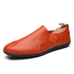 Pedal Orange Australia - Fairy2019 Leather Doug Shoes Schoolboy Joker One Pedal Dawdler Shoe Flat Bottom