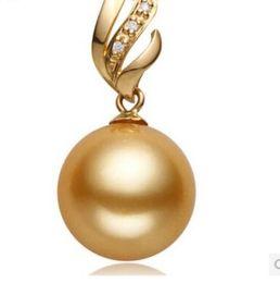 $enCountryForm.capitalKeyWord Australia - Huge 14mm South Sea Golden Shell Pearl Rose Gold Pendant