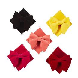 $enCountryForm.capitalKeyWord Australia - Ikepeibao Wine Men's Velvet Adjustable Bowtie Sets with Handkerchief Neckwear Bow ties Accessories for Wedding Party