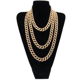 $enCountryForm.capitalKeyWord Canada - Hip Hop Gold Silver Choker Cuban Chain Mens 18inch 20inch 24inch 30inch Miami Cuban Link Chain BlingBling Jewelry