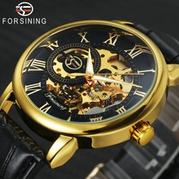 Best Skeleton Watches Men Australia - dress designer FORSINING Dress Fashion Men Mechanical Watch Skeleton Dial Roman Number Concise Design Wristwatch Best Business Gift + BOX