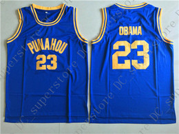 Cheap custom Obama 23  Punahou High School Basketball Jerseys Stitched  Customize any name number MEN WOMEN YOUTH JERSEY XS-5XL cff53c8c2