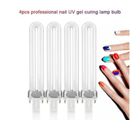 9w uv gel bulb online shopping - 4Pcs Set W Nail UV Gel LED Nail Lamp Bulb Tube Replacement lamp for Nail Dryer Polish Gel Curing Manicure Tool