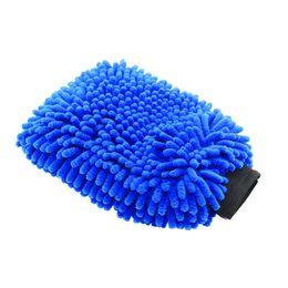 $enCountryForm.capitalKeyWord Australia - Auto 2 in 1 Microfiber Car Wash MiUltrafine Fiber Chenille Wash Glove Soft Mesh backing no scratch for Car and Cleaning