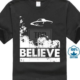 high quality custom t shirts Australia - X Files Believe Ufo T Shirt New Summer Style Top Tee Men's High Quality Custom Printed Hipster Tees Print T Shirt Male Brand