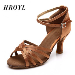 Hot Selling Women s Tango Ballroom Latin Dance Dancing Shoes Heeled Salsa  Professional Dancing Shoes For Girls Ladies 5cm 7cm 6b9840ea5cee