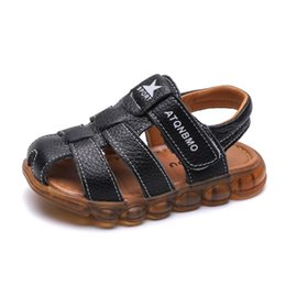 $enCountryForm.capitalKeyWord Australia - 2019 New Boys Summer Casual Sandals Children Leather Sandals Slippers Kids Beach Sandal Size 21-36