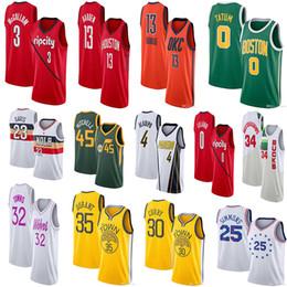 820a8e9390d 2019 Jayson 0 Tatum 11 Irving Jersey 30 Curry 35 Durant Dwyane 3 Wade  Giannis 34 Antetokounmpo jerseys