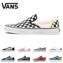 28ce4dca3b Fashion Original Vans Old Skool canvas sneakers fear of god GOLDEN COAST  white red YACHT CLUB classic black blue men women Skateboard shoes