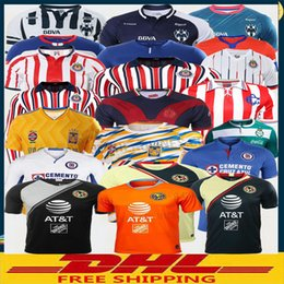 93d719c8afe DHL Free shipping 2018 2019 LIGA MX Club America soccer Jerseys 18 19  Monterrey UNAM Chivas Cruz Azul soccer Jerseys Size can be mixed batch