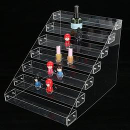 Discount lipstick racks - Acrylic Clear Gel Nail Polish Varnish Display Stand Rack Counter Holder Jewelry Lipstick Display Organizer Storage Box T