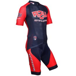 team usa clothing NZ - Usa Team Short Sleeves Cycling Jersey And Cycling Bib Shorts Sets Bike Cycling Shirt Ciclismo Clothes For Men