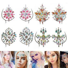Acrylic Crystal Diamond Chest Decoration Tattoo Drill Paste Resin Face  Stick Drill Music Festival Rhinestone Stickers 3e71b329b4e3