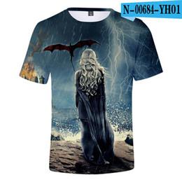 Playing Fashion Games Australia - LIASOSO Fashion Game of Thrones Dragon Playing Fire 3D Printed Men Women T-shirt Men tshirt Tops Tee Fashion Print t shirt T3420