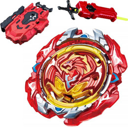 mini spin top UK - 2018 New Spinning Top Beyblade BURST Without Launcher And no Box Metal Plastic Fusion Sword String LR RED LAUNCHER