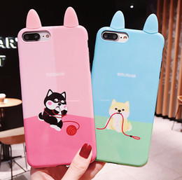 bf7e950492 Trendy fashion hey small fresh girl cute cartoon ear animal back case for  iphone6 6s 7 8plus x xs xr xsmax protective cover