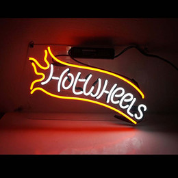 """$enCountryForm.capitalKeyWord Australia - Electronic Lighted Letters Custom Acrylic Hot Wheels Neon Sign Led Signs For Advertising 14"""" x 9"""""""