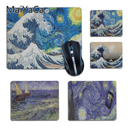 Painting Pads Australia - MaiYaCa Top Quality Japan wave art painting pad mouse Gaming mouse pad DIY Design gaming Rug For PC Laptop Notebook