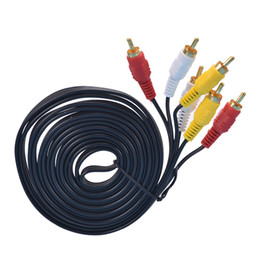 $enCountryForm.capitalKeyWord UK - 3m Triple 3 RCA Phono Male Plug to Plug Audio Composite Video AV Cable TV Lead