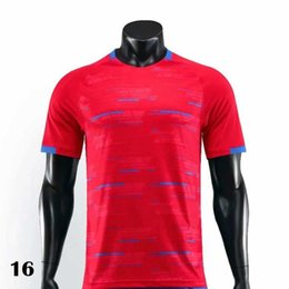 Wholesale shirts more online – design Red soccer jerseys football shirt Camiseta kits maillot tops more lettering just for long
