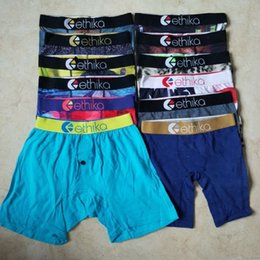 Random styles Ethika Kid's boxer underwear sports hip hop rock excise underwear skateboard street fashion quick dry Cotton on Sale