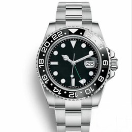 Gmt bezel online shopping - Top Master GMT Ceramic Bezel Mens Mechanical Stainless Steel Automatic Movement Watch designer Sports Self wind Watches luminous Wristwatch