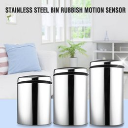 steel induction Canada - 3 4 6L Stainless Steel Touchless Trash Recycle Motion Sensor Automatic Smart Waste Bins Kitchen Trash Electronic Dustbin Y200429