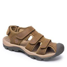 96d71b28c053 plus size 39-46 genuine leather men sandals for mens gladiator sandal  fashion summer breathable male beach shoes