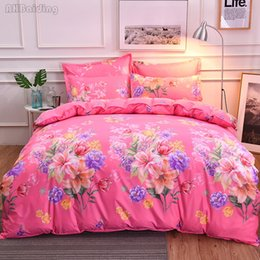 $enCountryForm.capitalKeyWord Australia - Hot Slae Beauty Red Flowers Printed Bedding Set Twin Full Queen King Bed Linen Bedclothes Duvet Cover Bed Sheet Pillowcase 4pcs