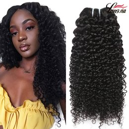 Wholesale Peruvian Curly Human Hair Weaves deep wave Virgin hair bundles natural color Unprocessed A Brazilian Jerry Kinky Curls Hair Extensions
