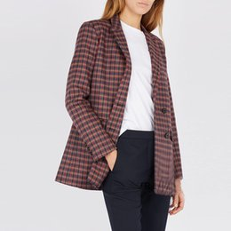 $enCountryForm.capitalKeyWord Australia - 2019 New Women Blazer Plaid Suit Coat Office Ladies Work Top Autumn Winter Women's Jackets and Coats Clothing