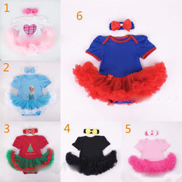 Avengers dresses online shopping - Baby Christmas Xmas Avengers rompers set suits happy birthday Newborn rompers Hair band cake dress