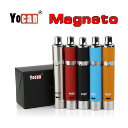 Vape Build Kits Australia - Original Yocan Magneto All in One Devices 1100mAh Wax Vaporizer Vape Pen Kit with 2ml Build In Silicone Jar DHL Free Shipment