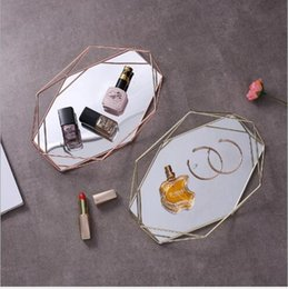$enCountryForm.capitalKeyWord NZ - Bulk Food Storage European glass retro jewelry display pan Nordic bedroom American cosmetics tray receptacle decorative ornaments