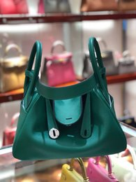Handmade cowHide purses online shopping - SUPERB new top women s authentic lychee leather cowhide doctor handbag shoulder bag handbag purse top craft all handmade