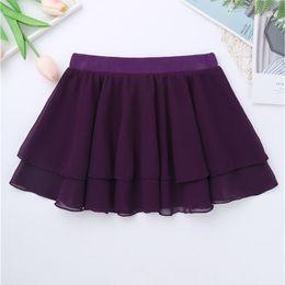 Skirt girl dancing online shopping - Basic Classic Ballerina Dress up Kids Girls Ballet Dancewear Chiffon Mini Pull On Skirt with Elastic Waistband Dance Skirt