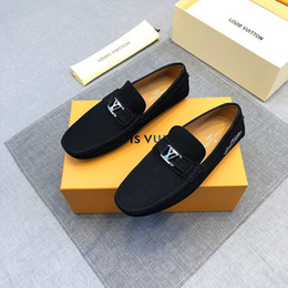Best Wedding Pendant Australia - 18ss New Arrival Italian Best Quality Men's spring and autumn high quality pendants casual shoes Breathable non-slip flat shoes 2019