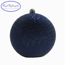Crystal Box For Case Australia - Pink Navy Round Hard Case Crystal Box Clutch Bag Evening Bags for Womens Party Prom Wedding and Matching Shoes and Even Dress #88830