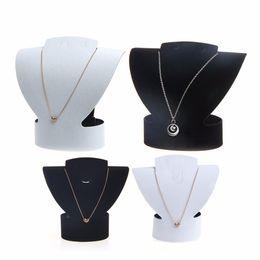 $enCountryForm.capitalKeyWord Australia - JAVRICK Velvet & Faux leather Folding VJewelry Necklace Bust Earring Display Holder Stand Rack Show Case Hot New