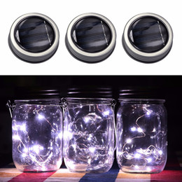 $enCountryForm.capitalKeyWord NZ - 3 Pcs Creative 3 Pcs Solar Mason Jar Fairy Light With White Led For Glass Mason Jars Party Garden Wedding Light Decorations
