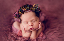 Discount fairy photography props - Newborn photography prop Caixia fairy headdress real flower series baby photo headwear