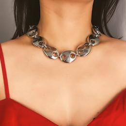 $enCountryForm.capitalKeyWord Australia - Punk Chunky Pig Snout Shaped Heavy Metal Thick Chain Choker Necklace for Women Geometric Statement Chocker Collar Jewelry XR2121