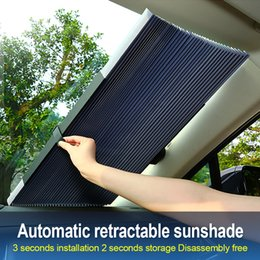 Windshield shade for car online shopping - Car Retractable windshield Sun Shade Block sunshade cover Front Rear window foil Curtain for Solar UV protect cm