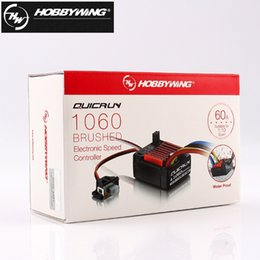 hobbywing speed controller NZ - 1pcs Original Hobbywing Quicrun 1060 60a Brushed Electronic Speed Controller Esc For 1:10 Rc Car Waterproof For Rc Car J190722