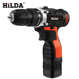 Battery power drills online shopping - HILDA Electric Drill Cordless Screwdriver Lithium Battery Furadeira Cordless Screwdriver Power Tools Cordless Drill
