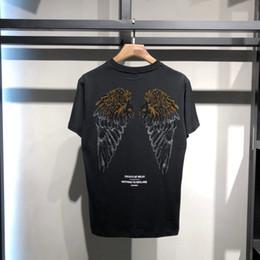 2cea02e33 Newest Hot Summer Short Sleeve T Shirts Set auger angel wings Tee Shirt  T-Shirts Men's Premium T-Shirt White Tops
