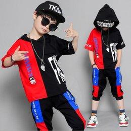 Summer Sportswear Suit Australia - Children's Wear Summer 2019 New Boys'Short-sleeved Suit in Children's Summer Wear Boys' Splicing Sportswear 110-170cm