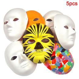 $enCountryForm.capitalKeyWord Australia - 5Pcs Adult Men Women Plain Fancy Dress Blank Face Mask Cosplay DIY Hand-painted Unpainted White Biodegradable Costume Party