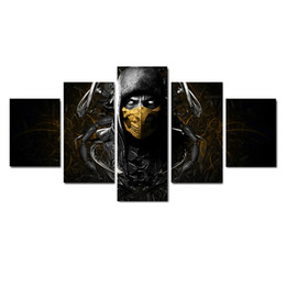 mortal kombat canvas print Australia - Mortal Kombat X (Comic Series) That Scorpion's,5 Pieces HD Canvas Printing New Home Decoration Art Painting Unframed Framed